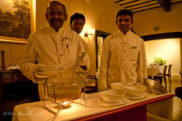 serving tableside at Hill Club in Nuwara Eliya