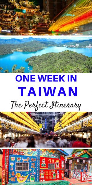 one week in taiwan itinerary