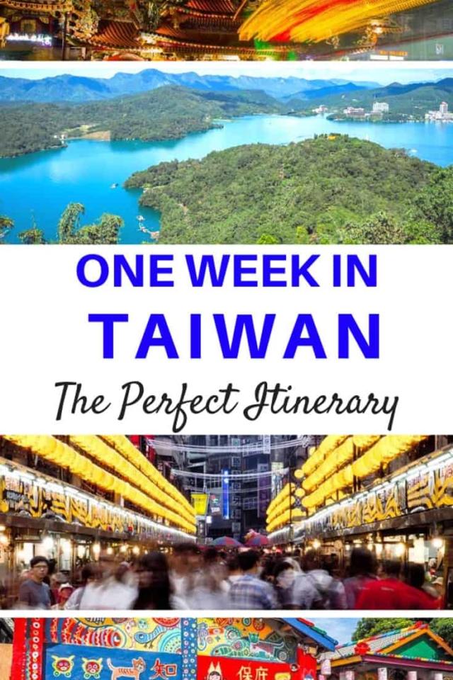 one week in taiwan itinerary