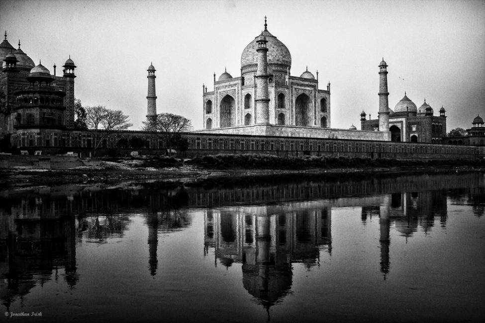 The Taj Mahal in Black and White