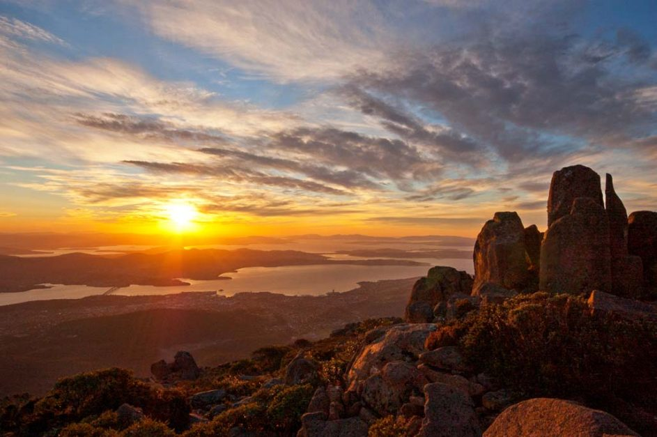 free things to do in tasmania Wellington Mountain.