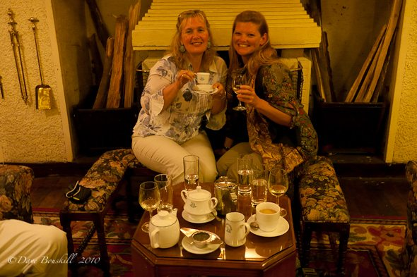 Tea By the Fire at the Hill club in Sri Lanka