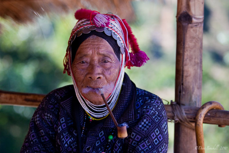 woman on tea terrace