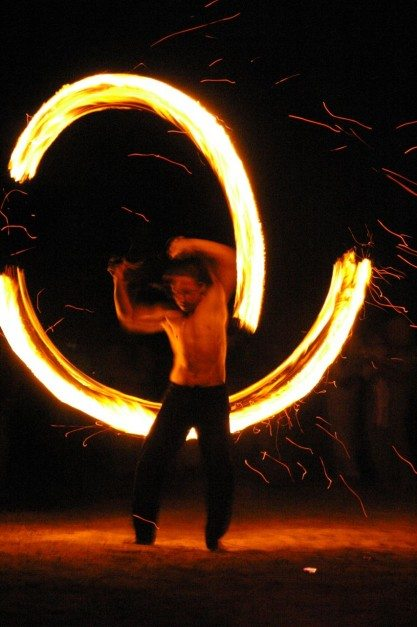 thailand travel guides full moon party fire spinning
