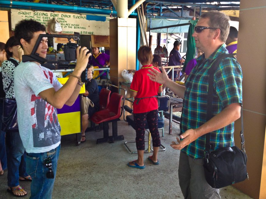 dave of Canada's Adventure Couple in Thailand on video shoot