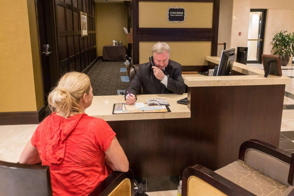 Interconental Hotel concierge the big easy