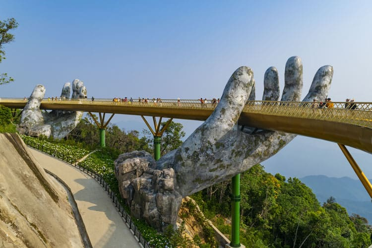 things to see in vietnam golden hands brige