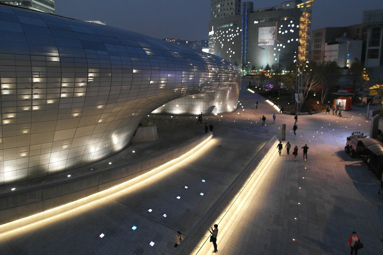 Dongdaemun Design Plaza in Seoul South Korea