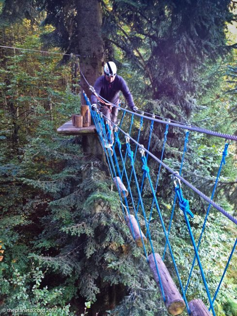 high ropes adventure travel switzerland