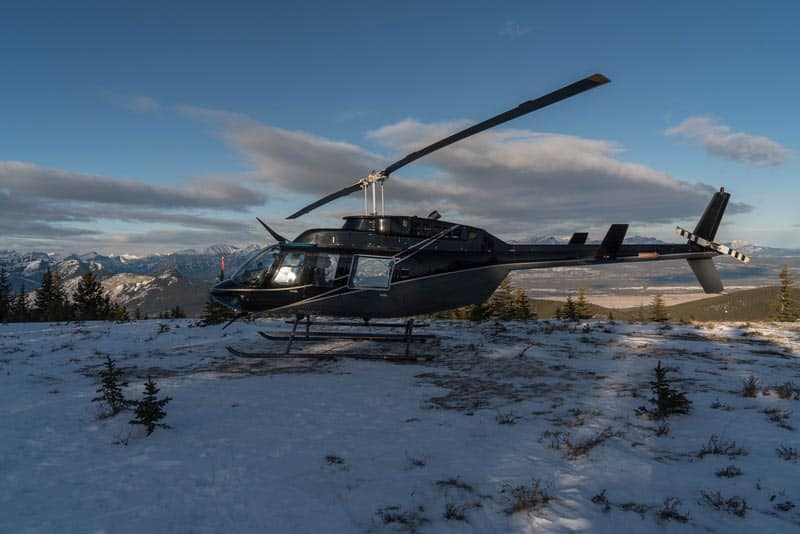 what to do in alberta helicopter flights
