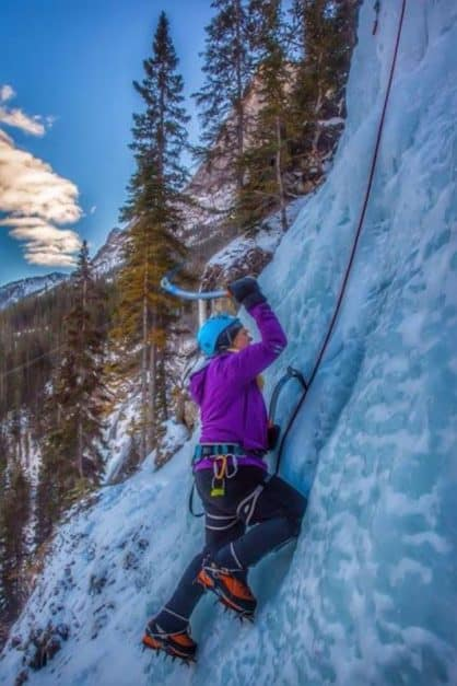 what to do in alberta ice climbing
