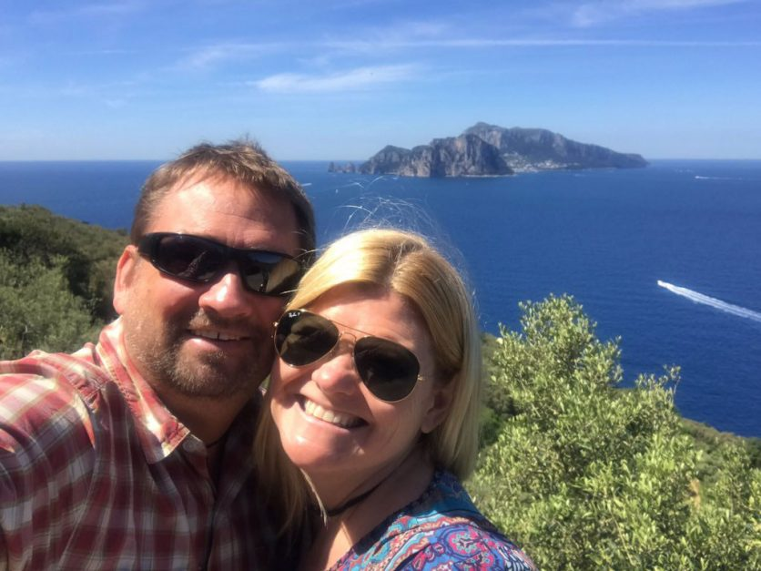 Dave and Deb overlooking Capri