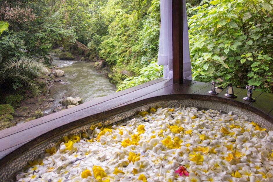 flower bath in bali