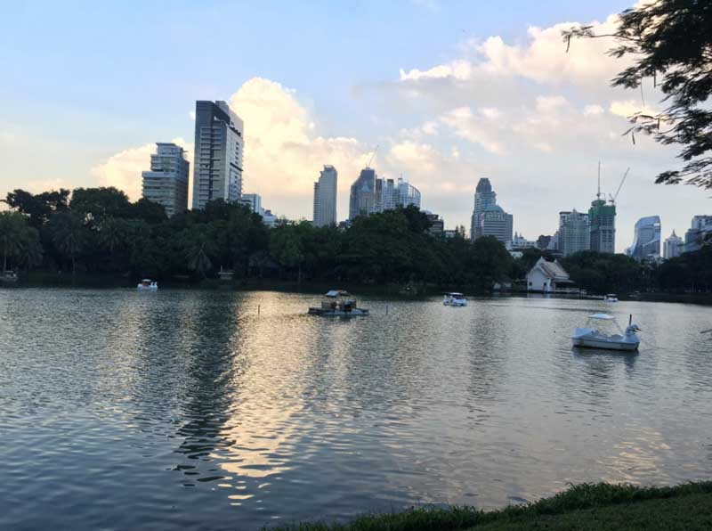 Lumpini Park in the heart of Bangkok