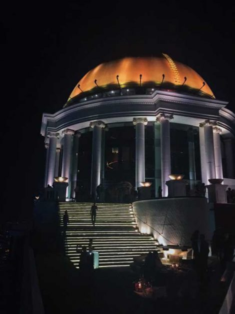 things to do in bangkok at night golden dome lebua tower
