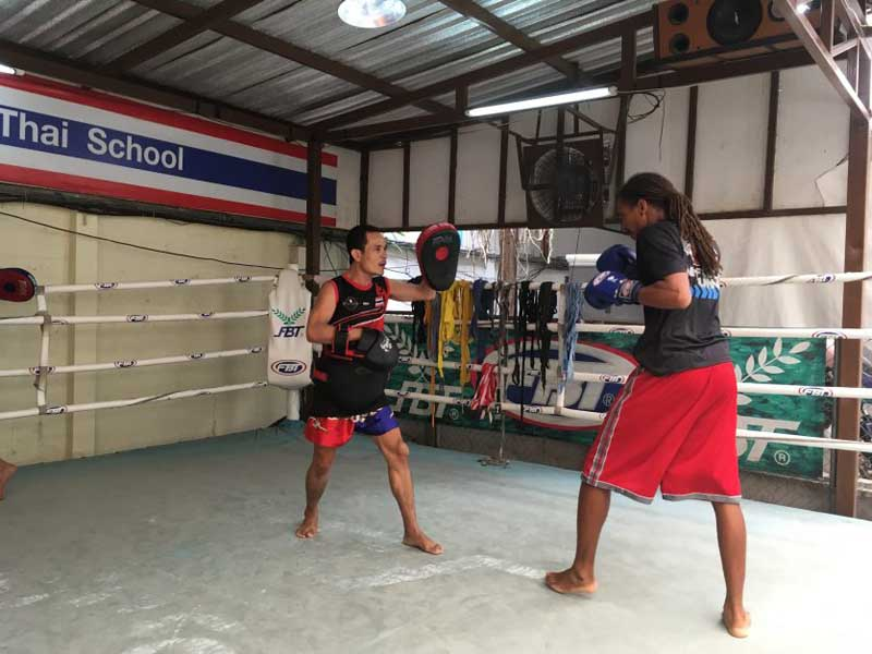 Muay Thai boxing in Thailand
