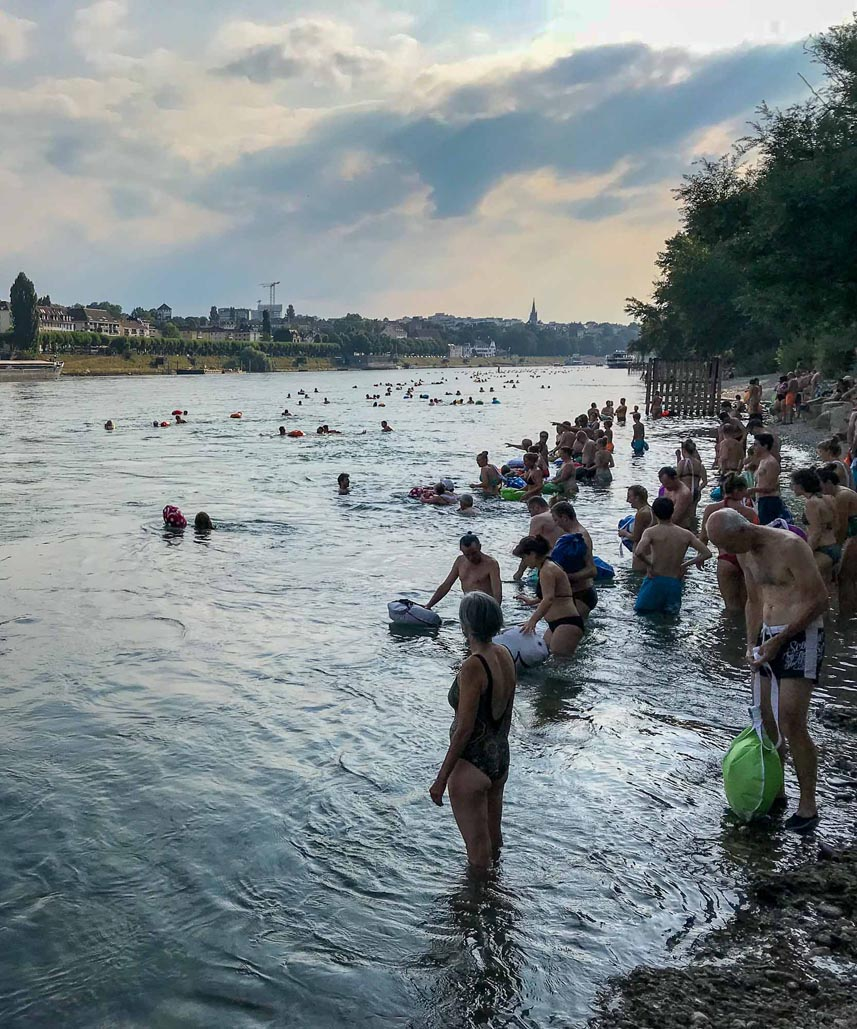 things to do in basel swimming