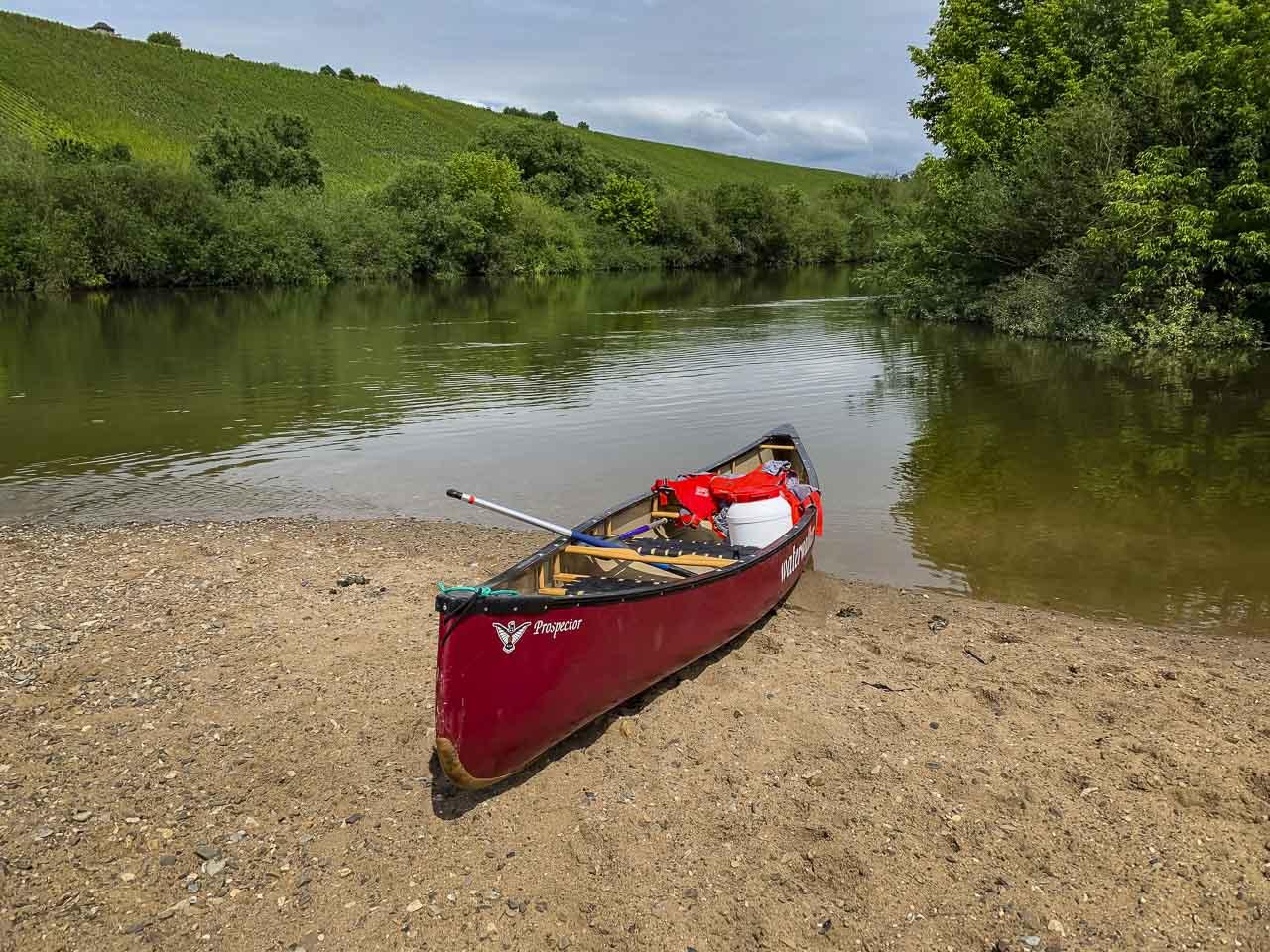Canoe Volkach in Franconia Bavaria