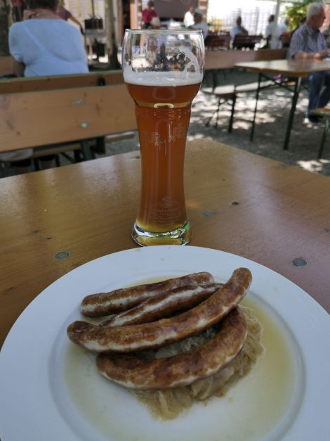 beer and bratwurst in germany