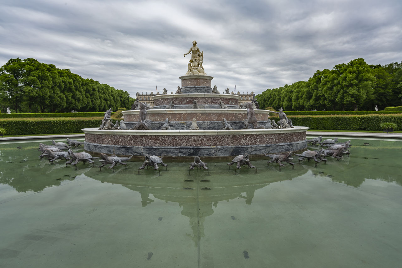 The Fountains of Castle Herrenchiemsee in Bavaria