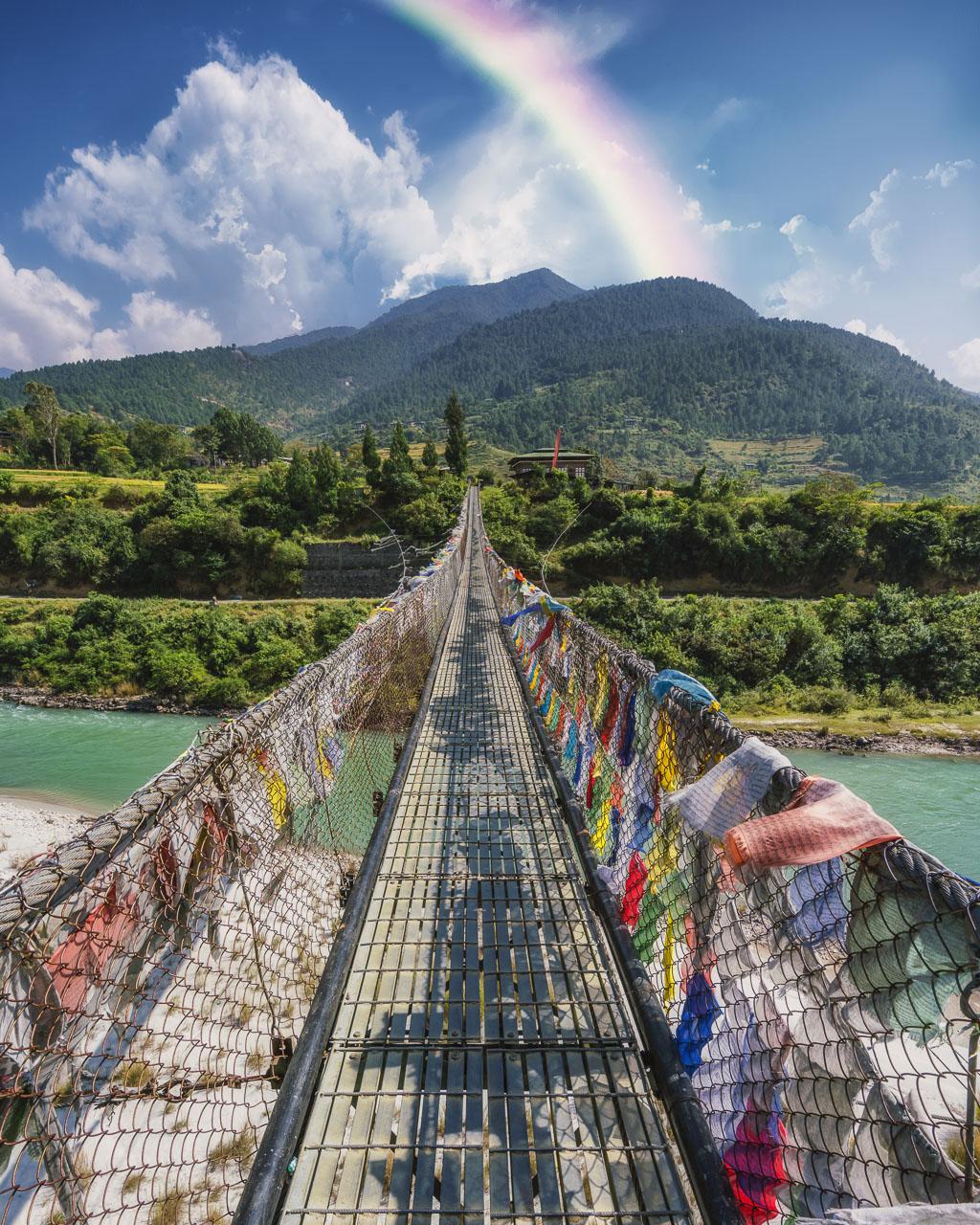 things to do in bhutan suspension bridge