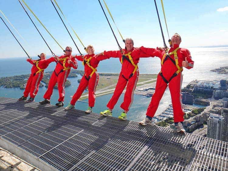 things to do in toronto | edgewalk at CN Tower