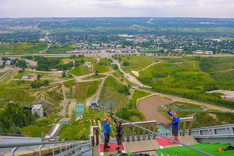 things to do in calgary | zipline