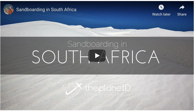 what to do in cape town south africa - sand boarding