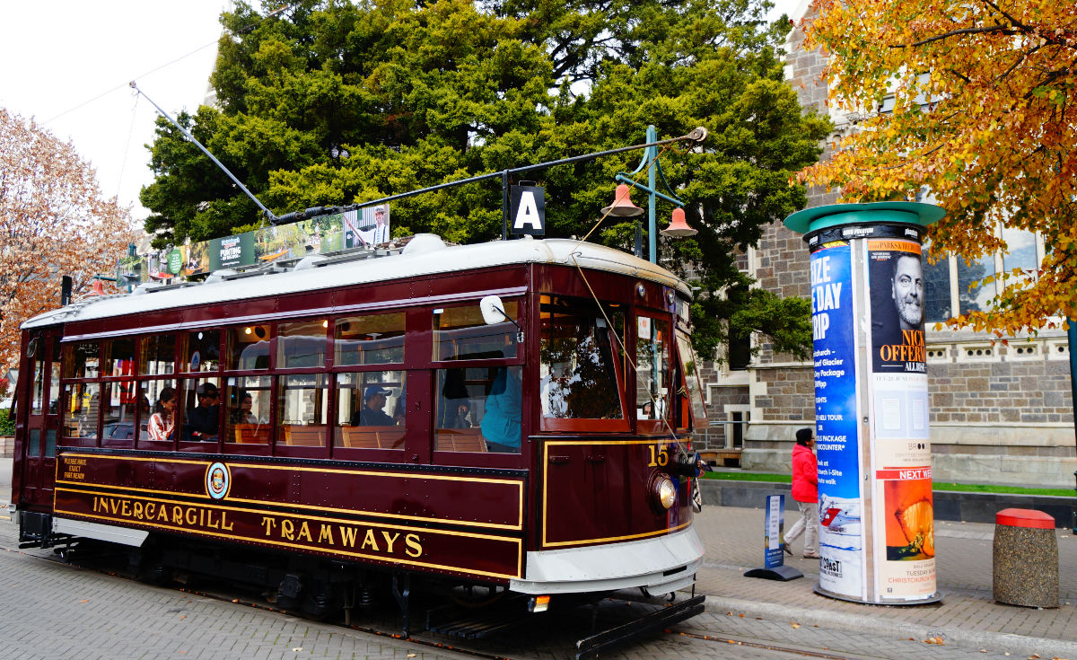 how to get around christchurch the tramway