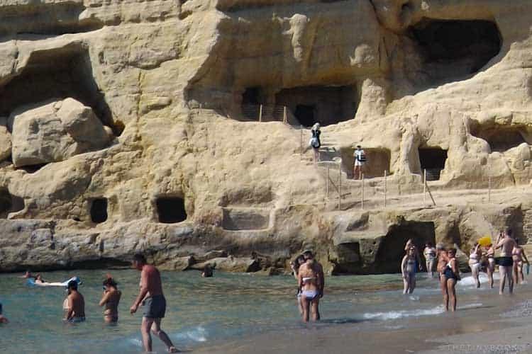 пляжи Крита | пляж Матала