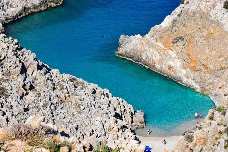красивые вещи на Крите | Пляж Сейтан Лимания