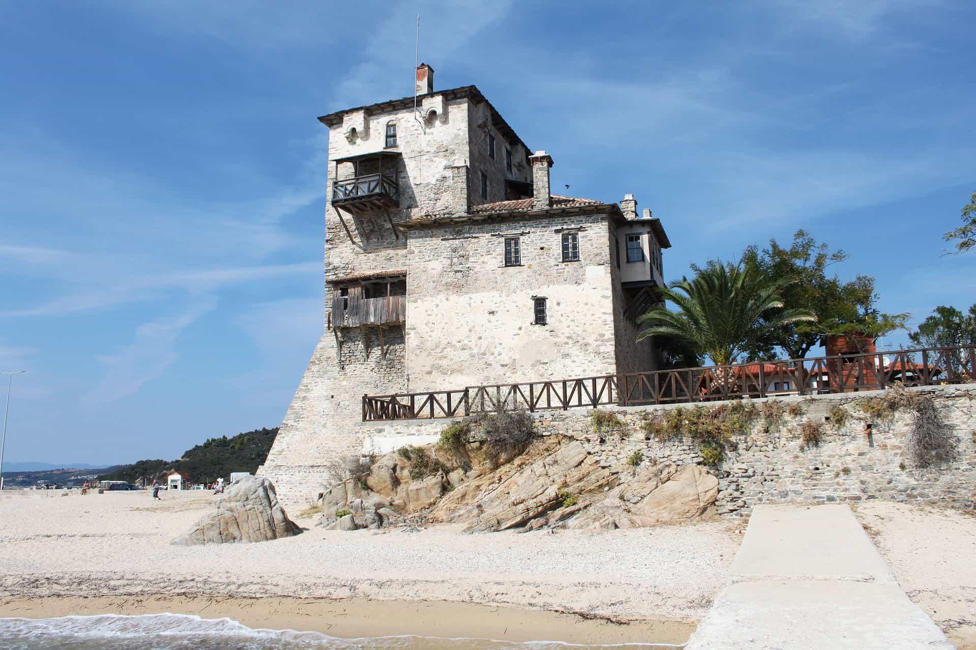 byzantine tower - visit halkidiki