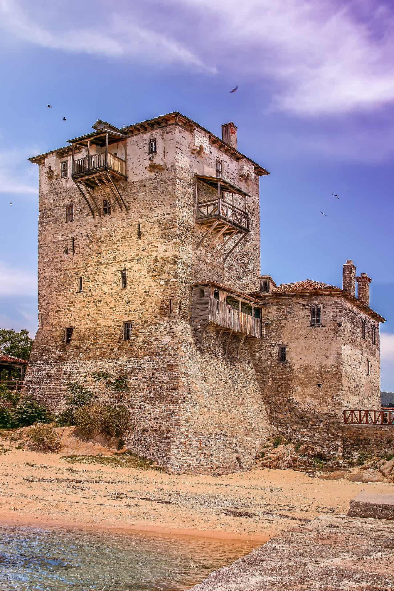 halkadiki things to do byzantine tower nea fokea