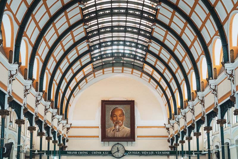 Ho chi minh attractions | central post office