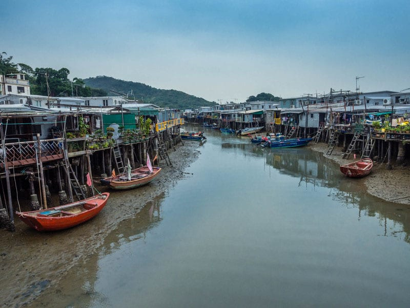 things to do hong kong | tai O fishing village boats and canal
