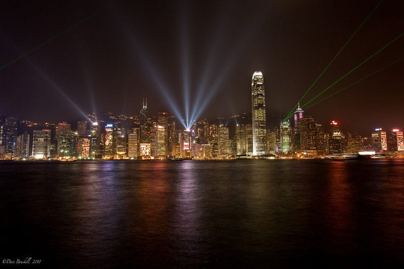 what to see hong kong | night light show