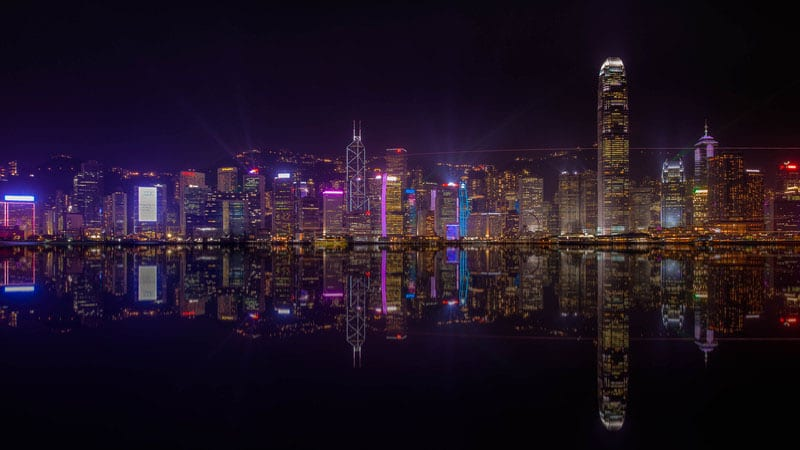 free things to do in hong kong at night | skyline from Kowloon