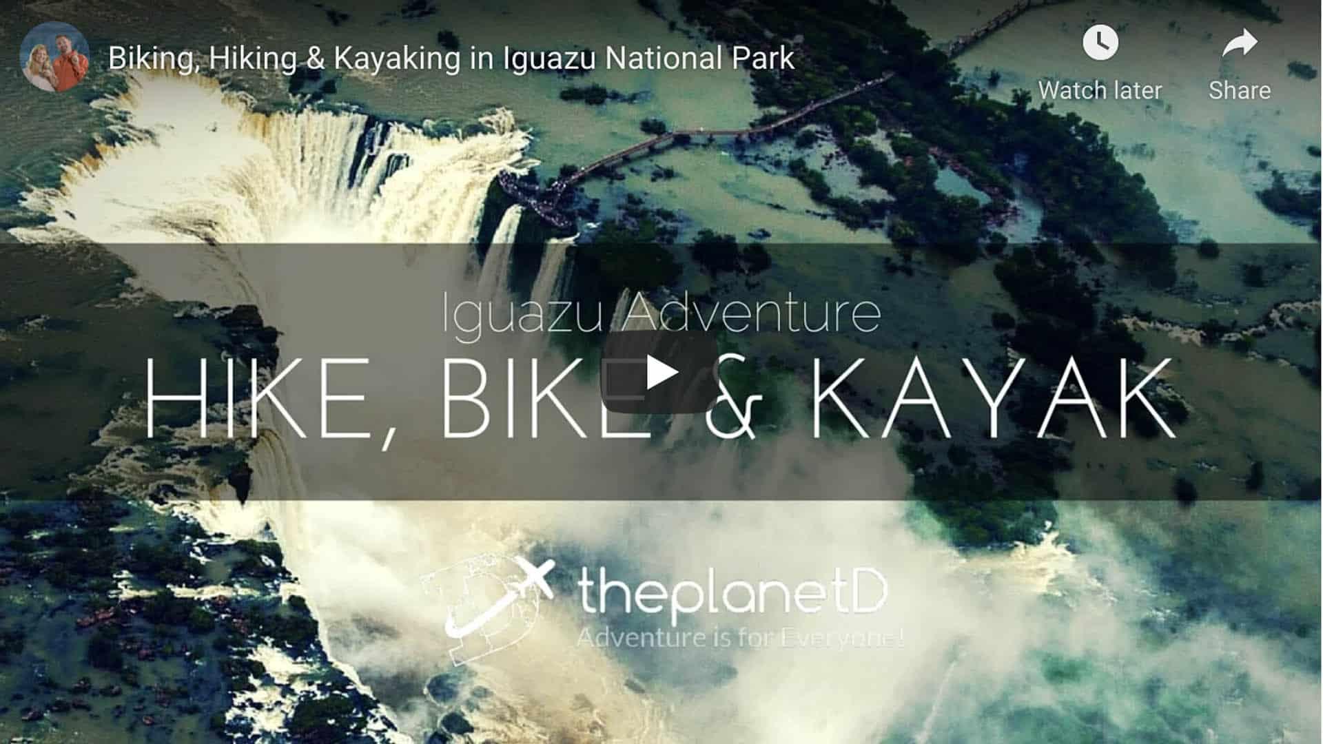 hike bike and kayak iguazu falls video