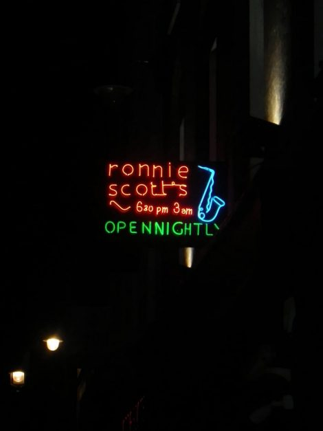 things to do in London at night Ronnis Scott's Jazz Club