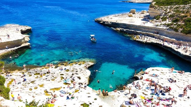 malta adventure activities | cliff jumping