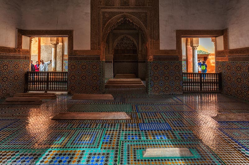 what to see in marrakech the saddian tombs