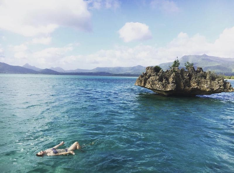 what to do in mauritius swimming crystal rock