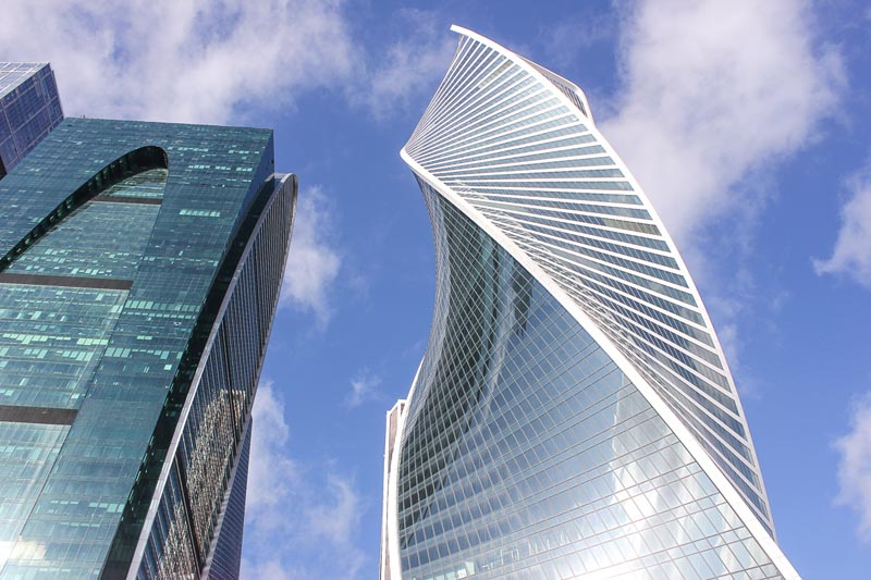 modern skyscrapers of moscow