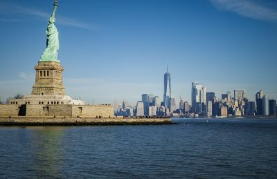 Statue of Liberty and Manhattan in New York City