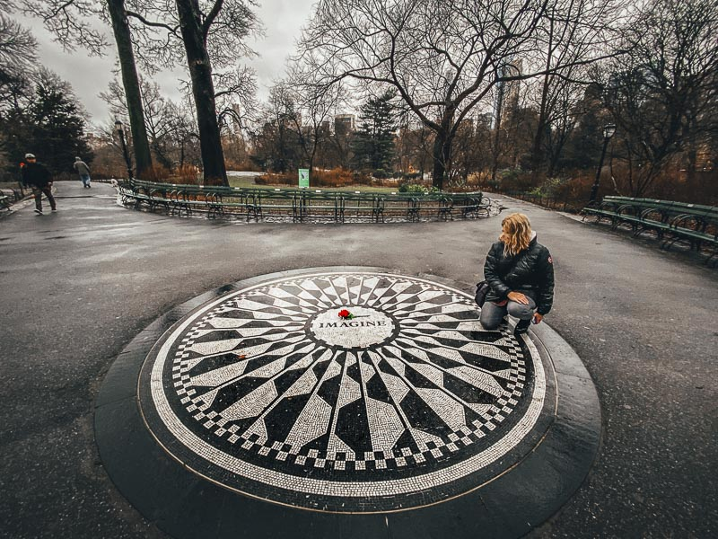 Visit the John Lennon Memorial in Central Park New York