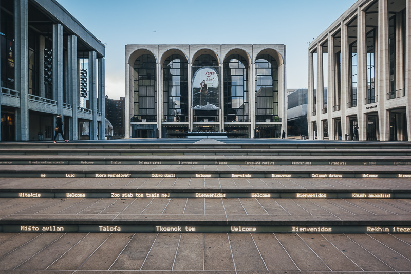 Take in a show at the Lincoln Center New York City