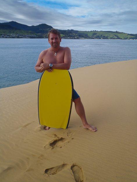 adventures in new zealand sandboarding
