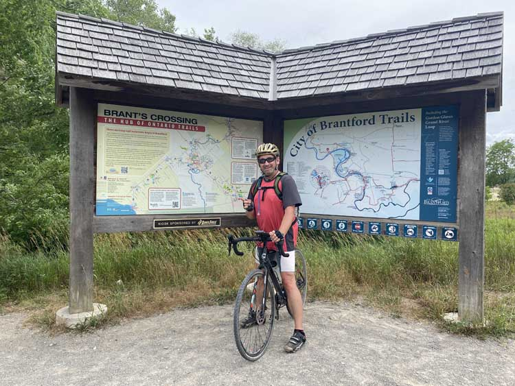 dave on bicycle on trans canada trail