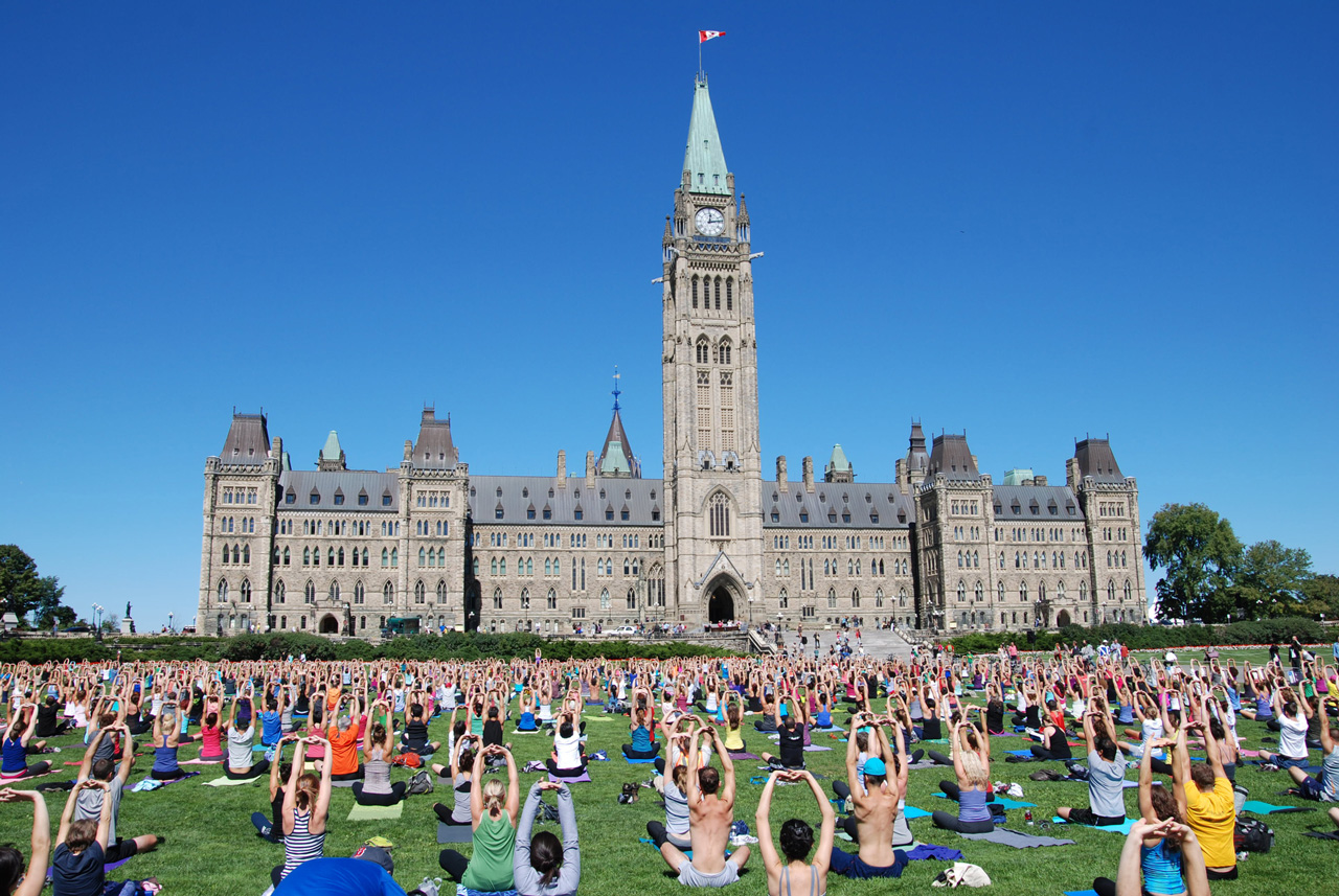 what to do in Ottawa yoga on the hill