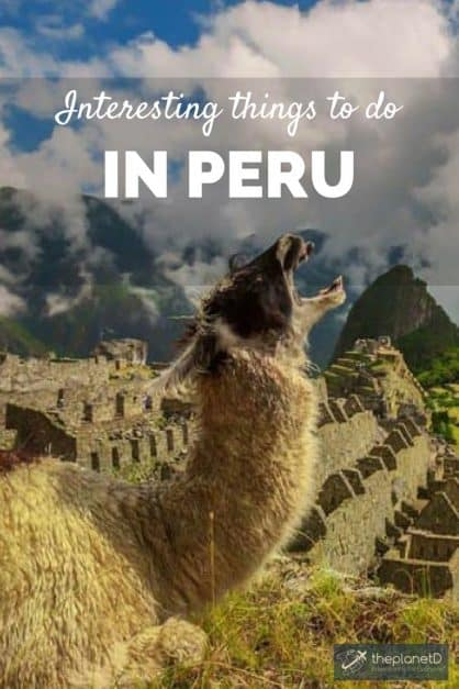 glorious things to do in peru